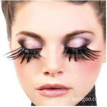 Party Exaggerated False Eyelashes Black Feathers